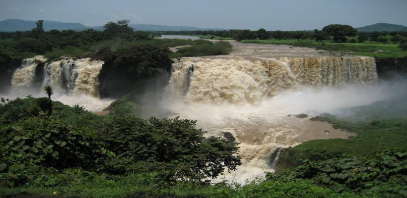 Blue Nile Falls nearby Bahir Dar City